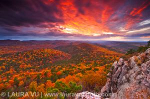 Autumn Firework - Flatside Pinnacle, Arkansas