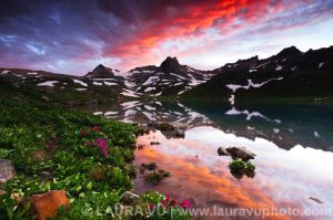 Reflection Sunset - Upper Ice Lake Basin, Colorado